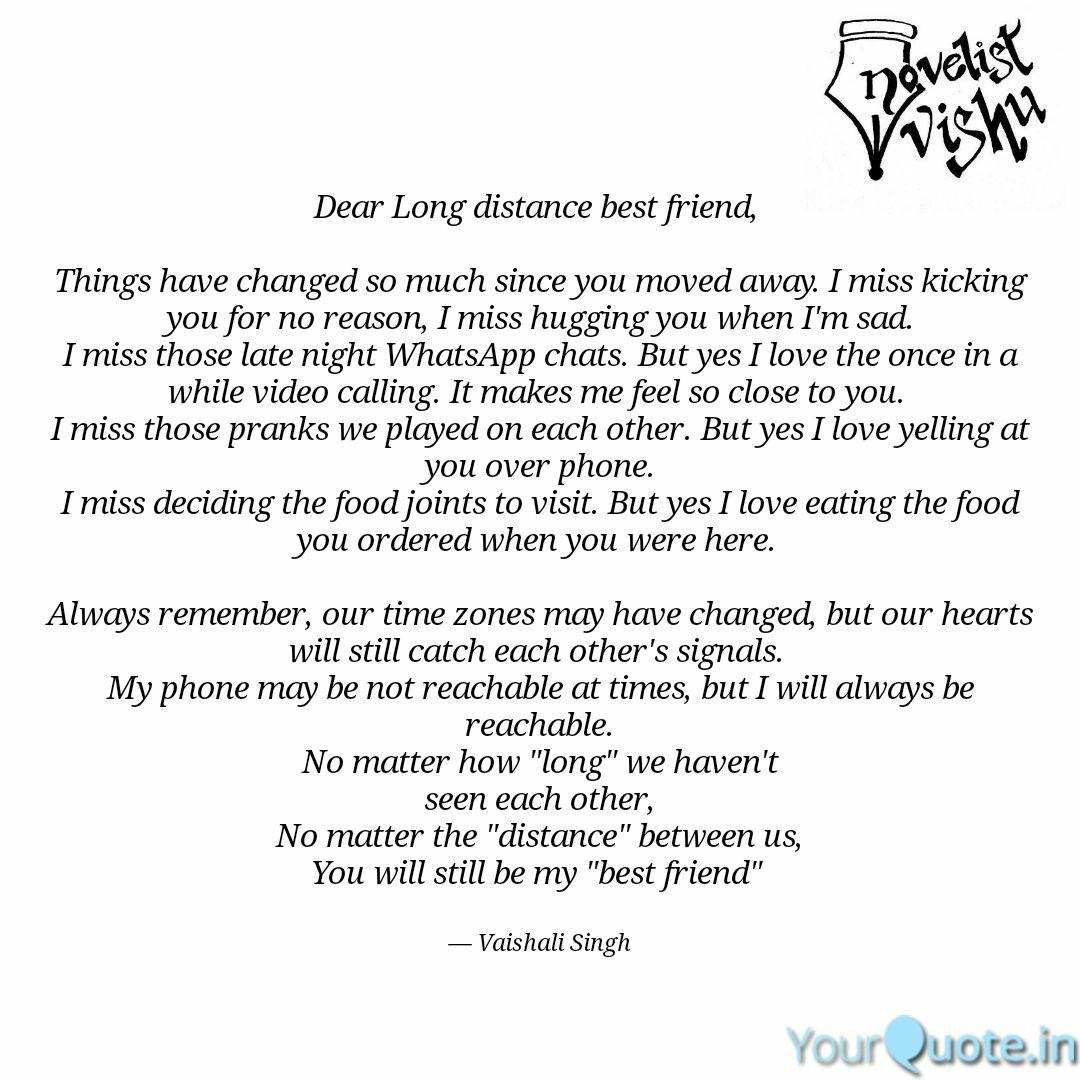 Dear Long distance best f... | Quotes & Writings by Vaishali ...