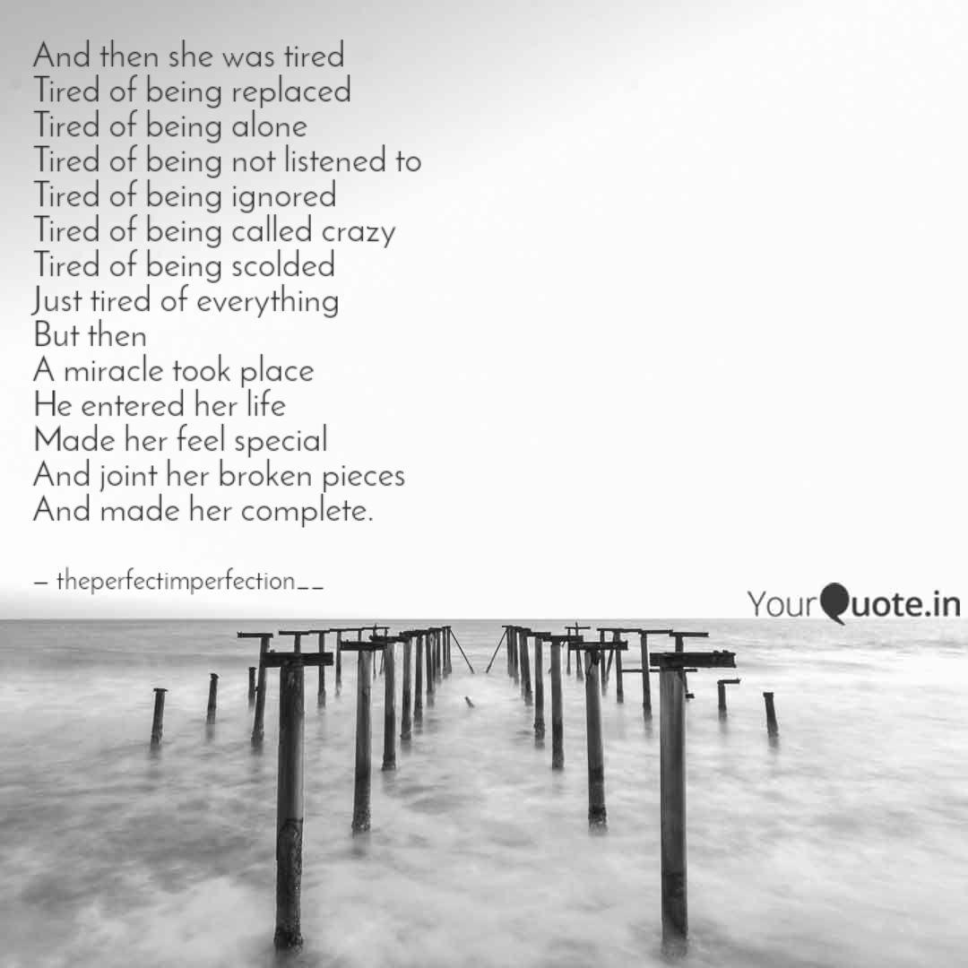 And then she was tired Ti... | Quotes & Writings by Ishita ...