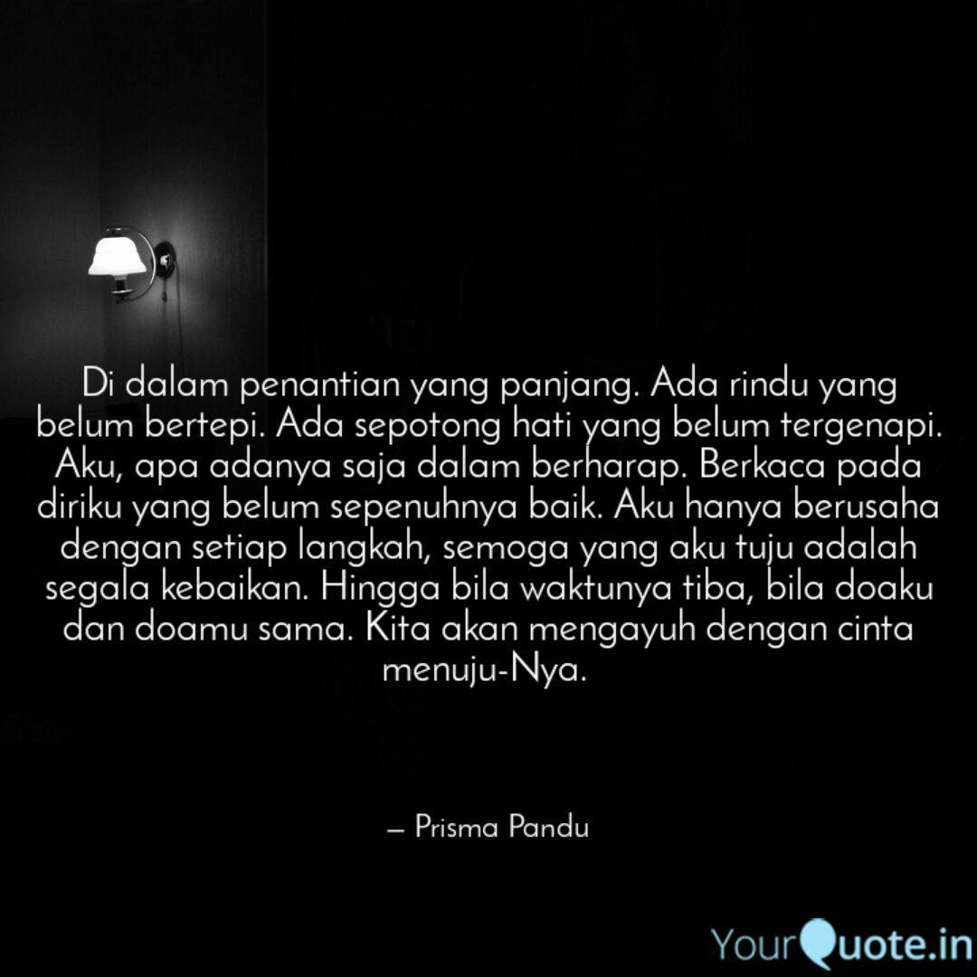 di dalam penantian yang p quotes writings by prisma pandu