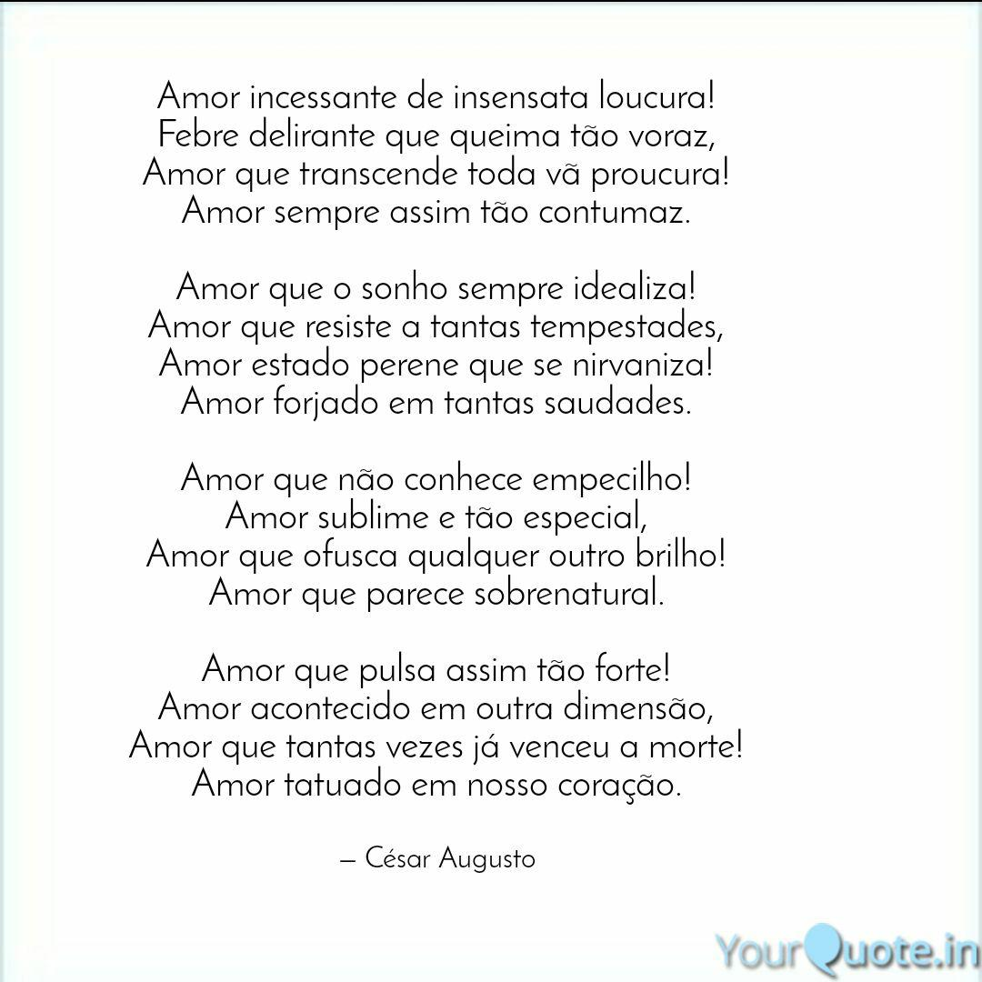 Amor Voraz amor incessante de insen   quotes & writingscésar