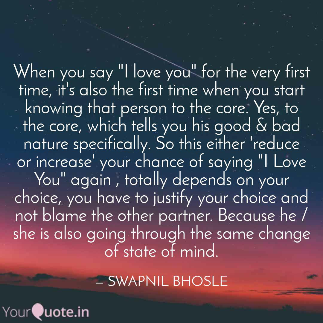 When to say i love you first