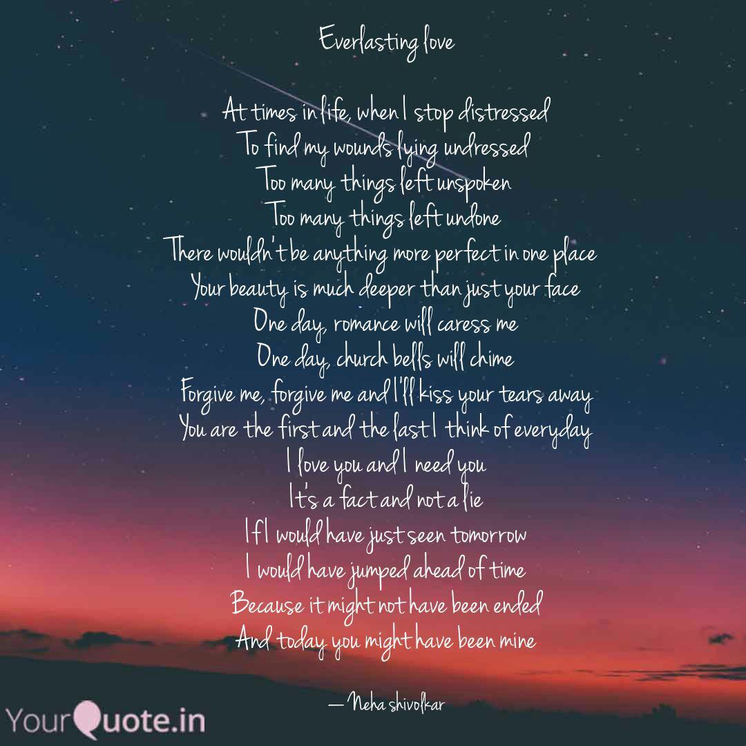 Everlasting love At time  Quotes & Writings by Neha Shivolkar