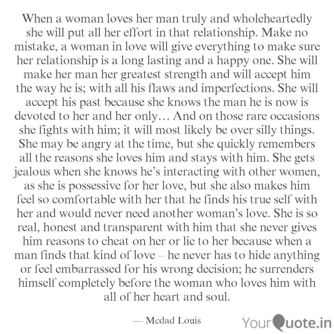 When a woman loves her ma... | Quotes & Writings by Mcdad ...