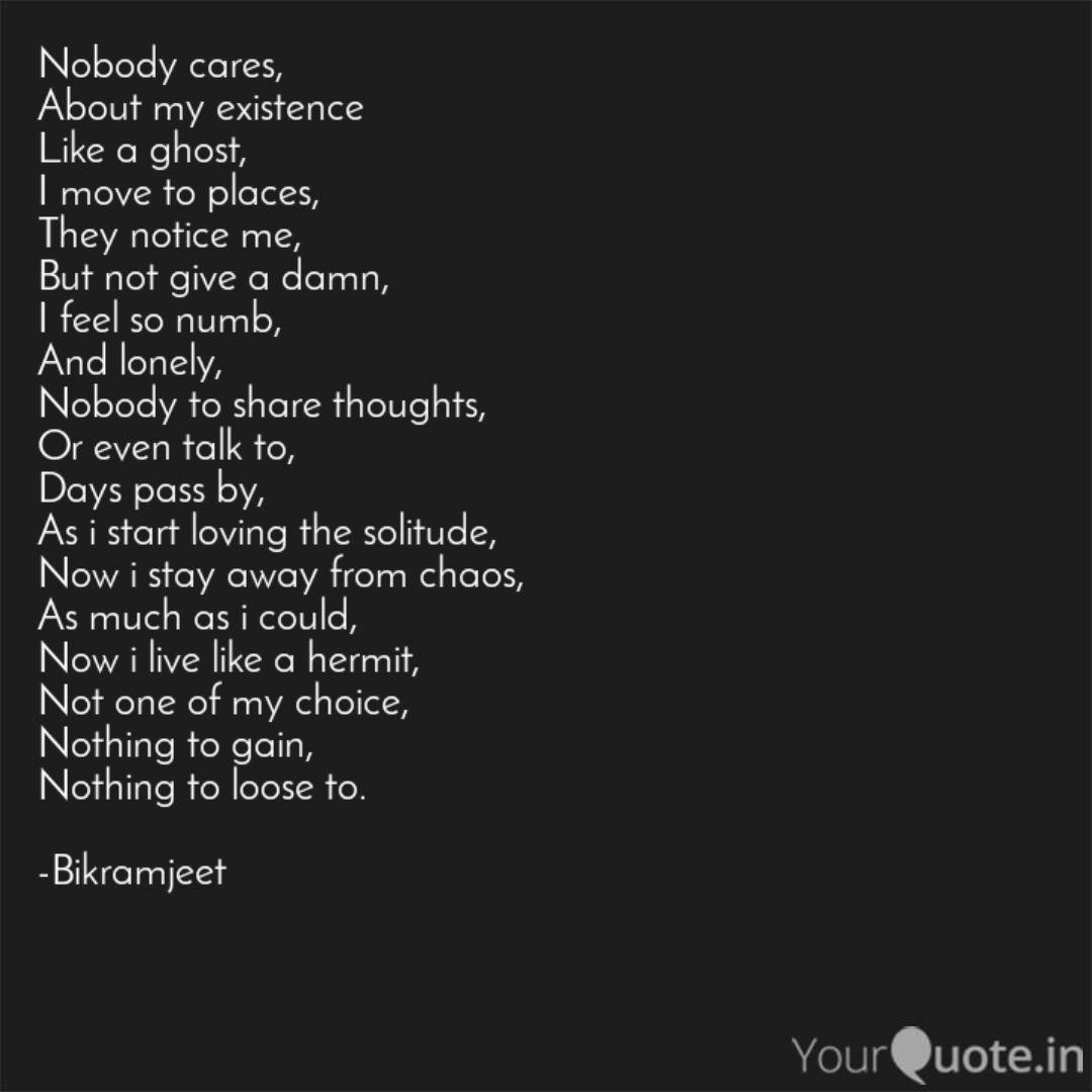 Nobody cares, About my ex... | Quotes & Writings by ...