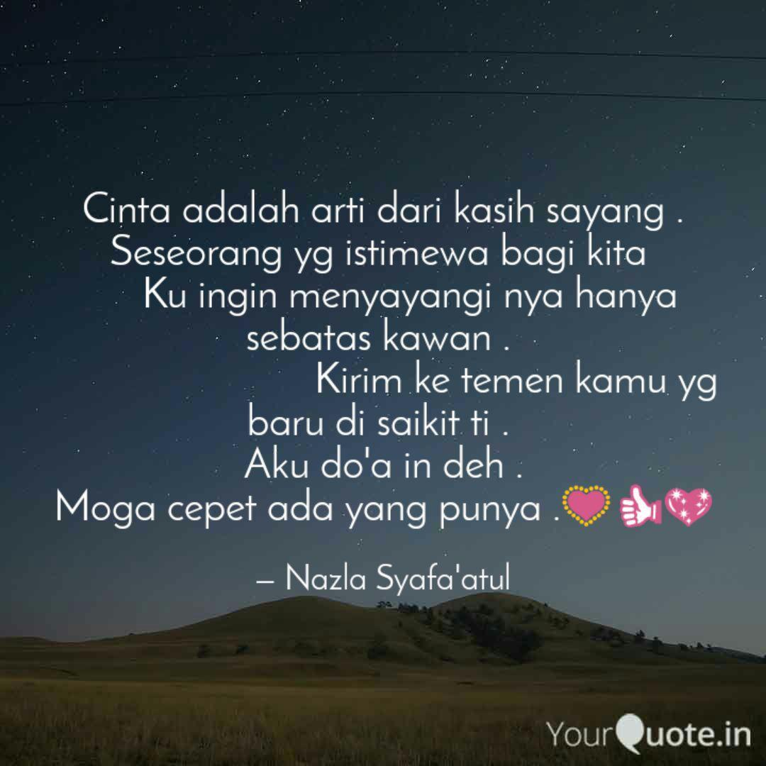cinta adalah arti dari ka quotes writings by nazla syafa