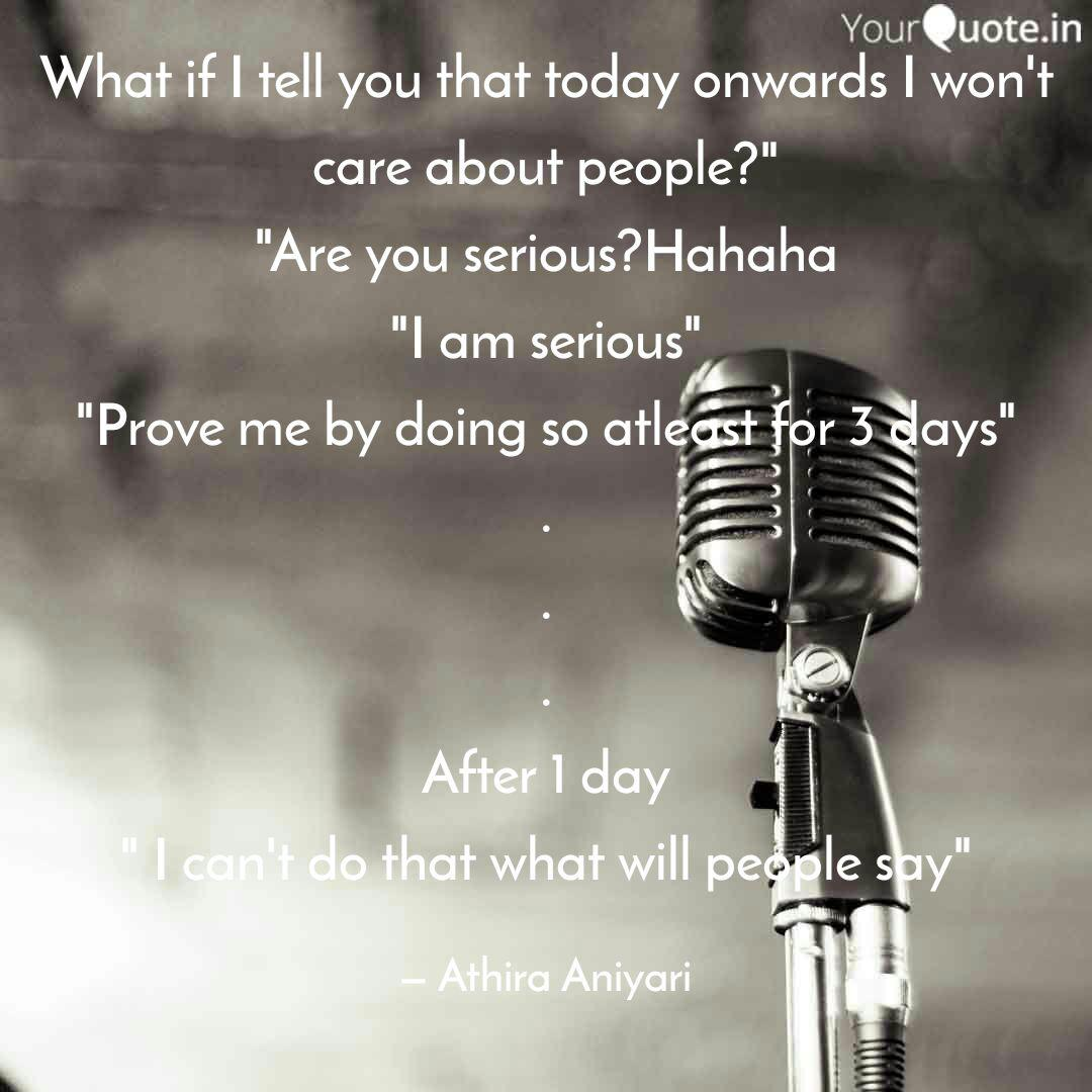 What if I tell you that t  Quotes & Writings by Athira Aniyari