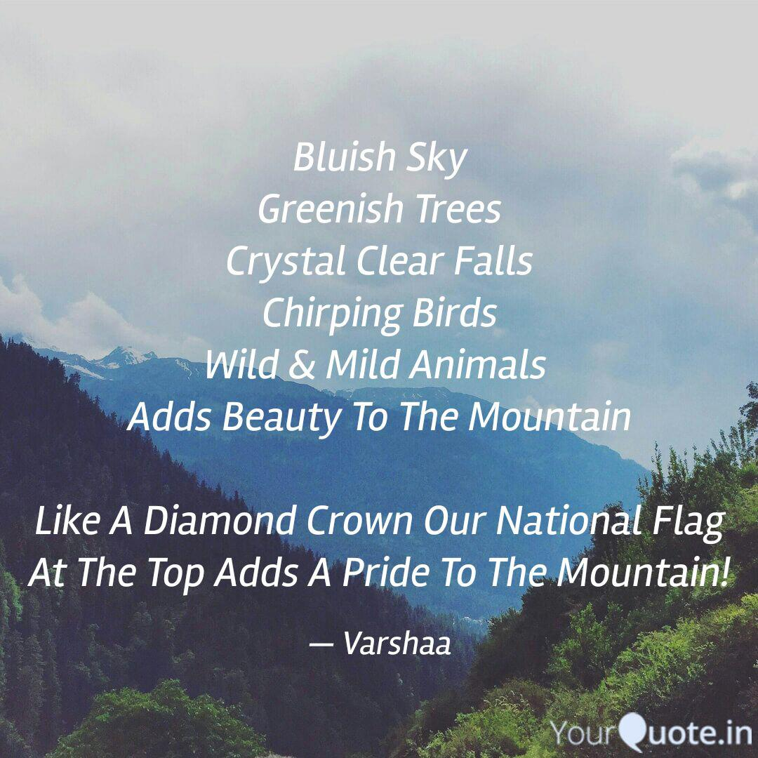 Bluish Sky Greenish Trees Quotes Writings By Varshaa Yourquote