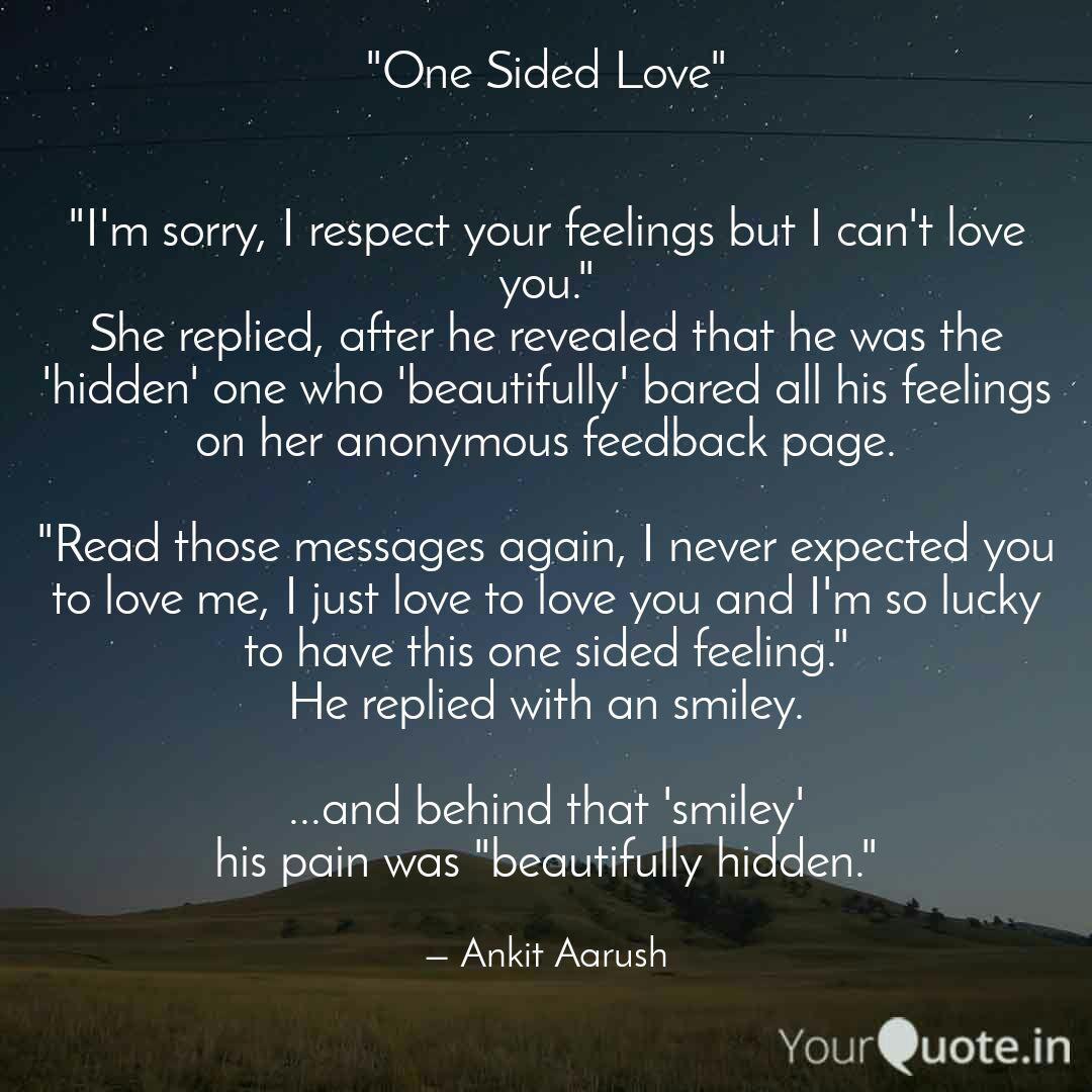 """One Sided Love"""" """"Im s  Quotes & Writings by Ankit Aarush"""