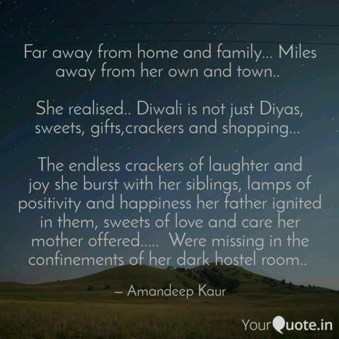 far away from home and fa quotes writings by amandeep kaur