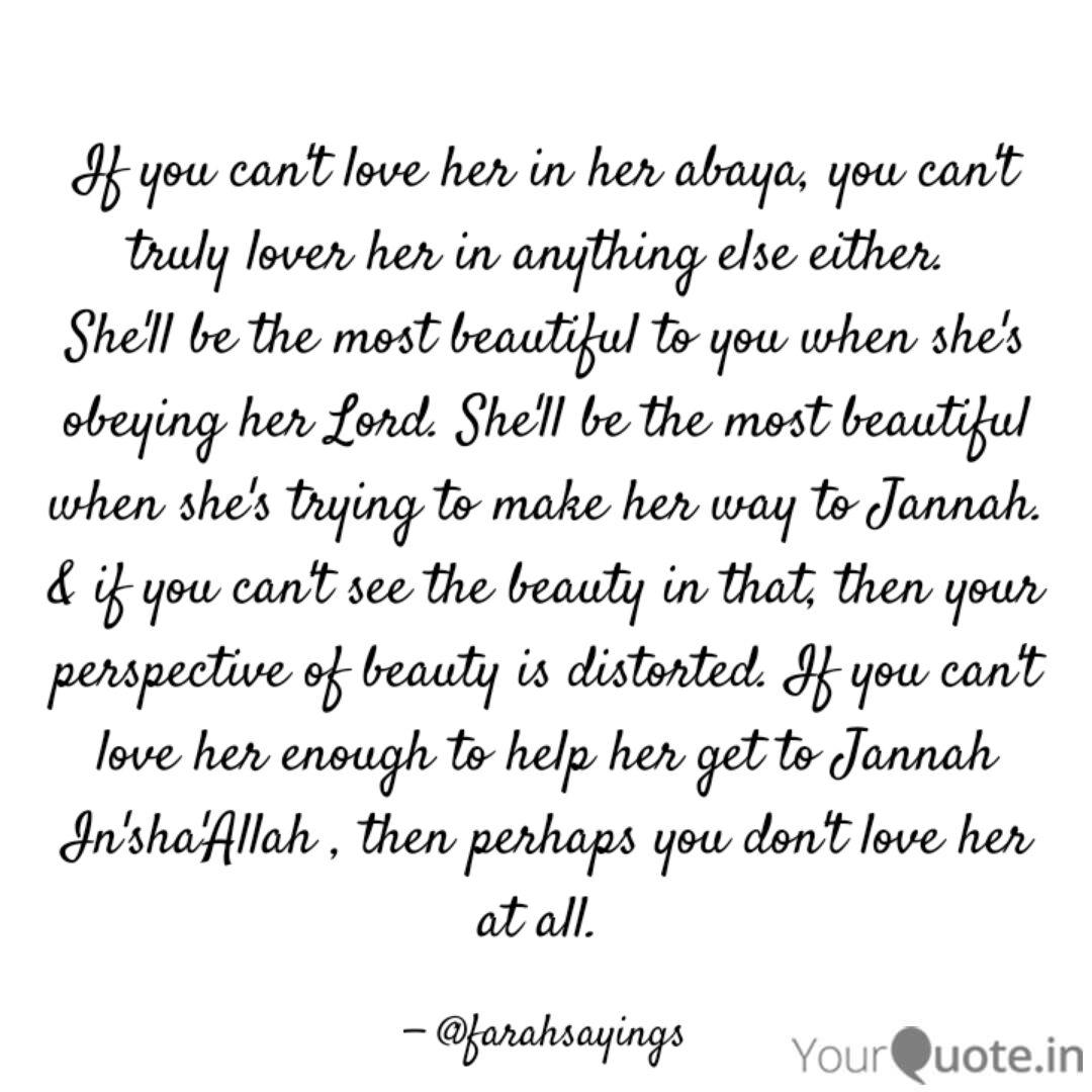 If you can\'t love her in ... | Quotes & Writings by Farah ...