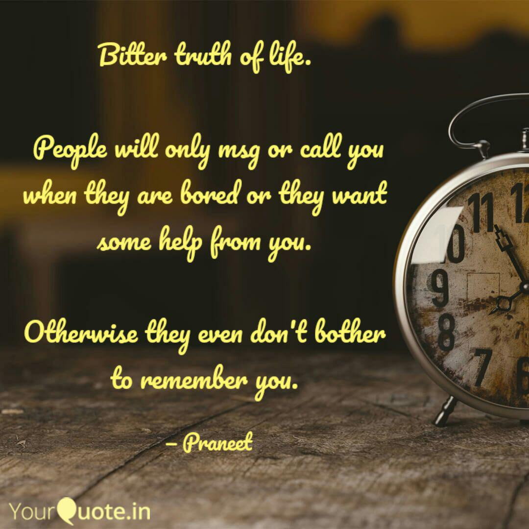 Bitter truth of life. P... | Quotes & Writings by Praneet ...