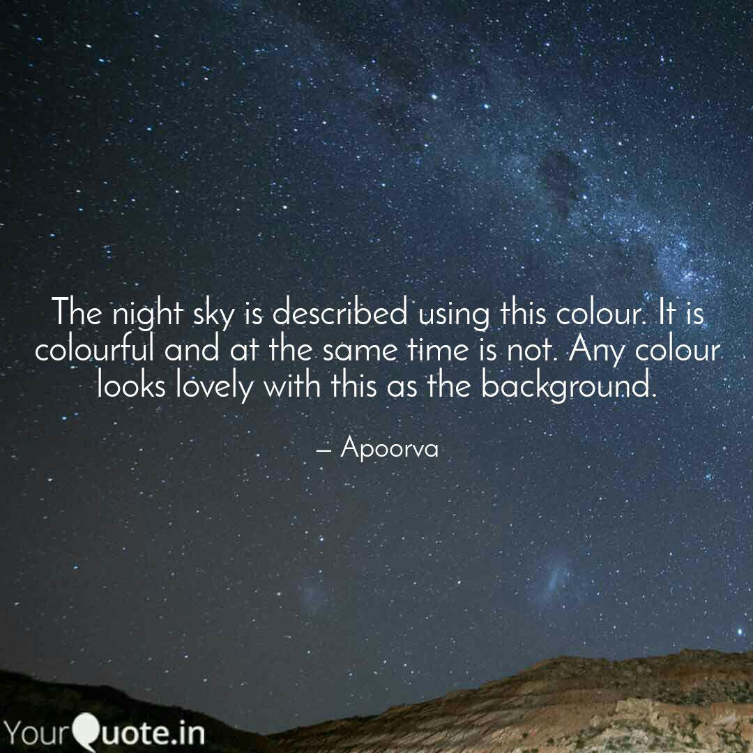the night sky is describe quotes writings by apoorva