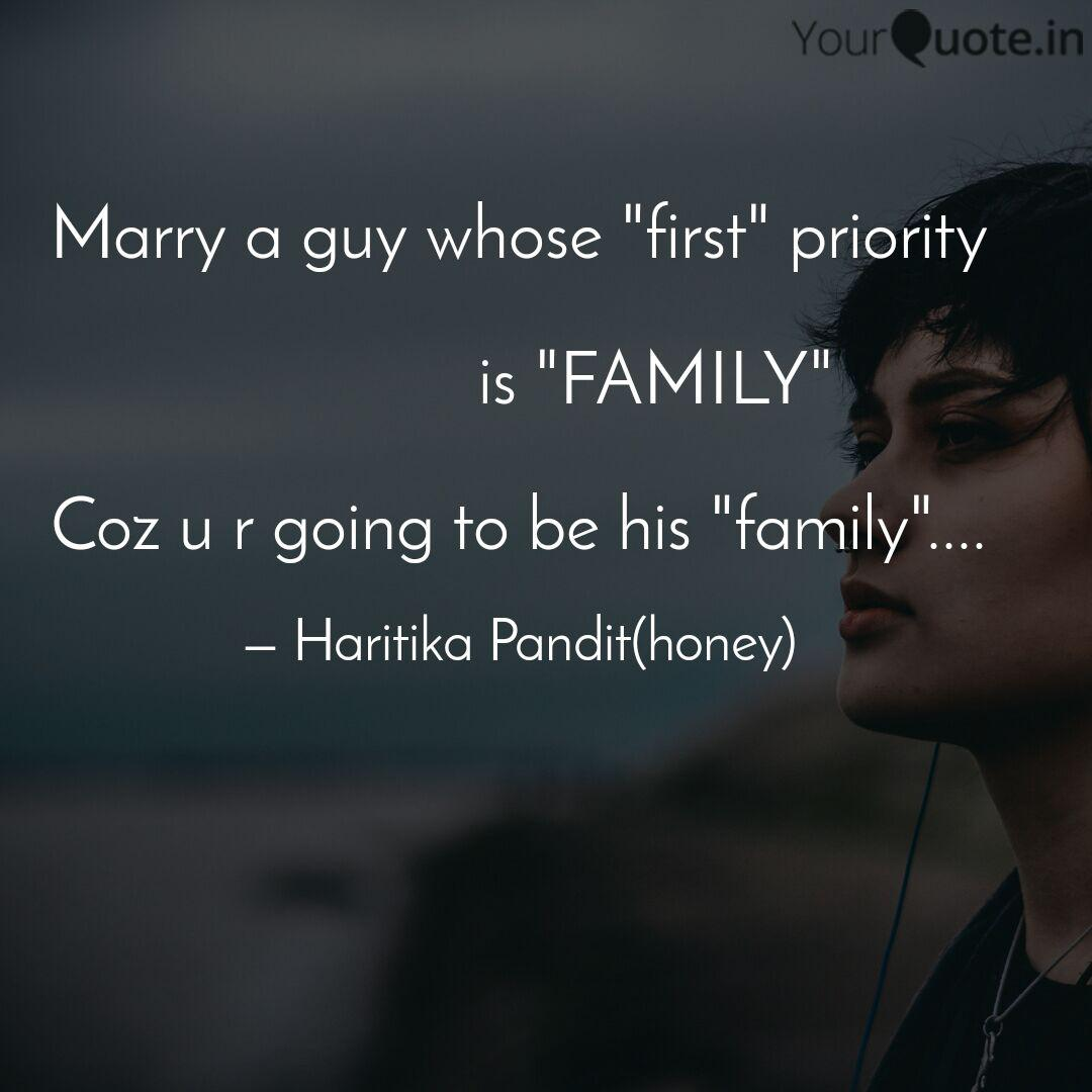 marry a guy whose first quotes writings by haritika