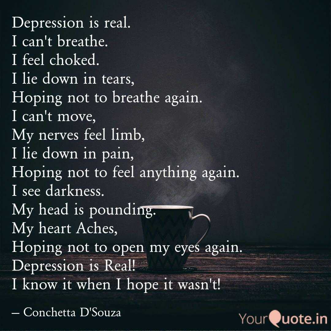 when depression is real