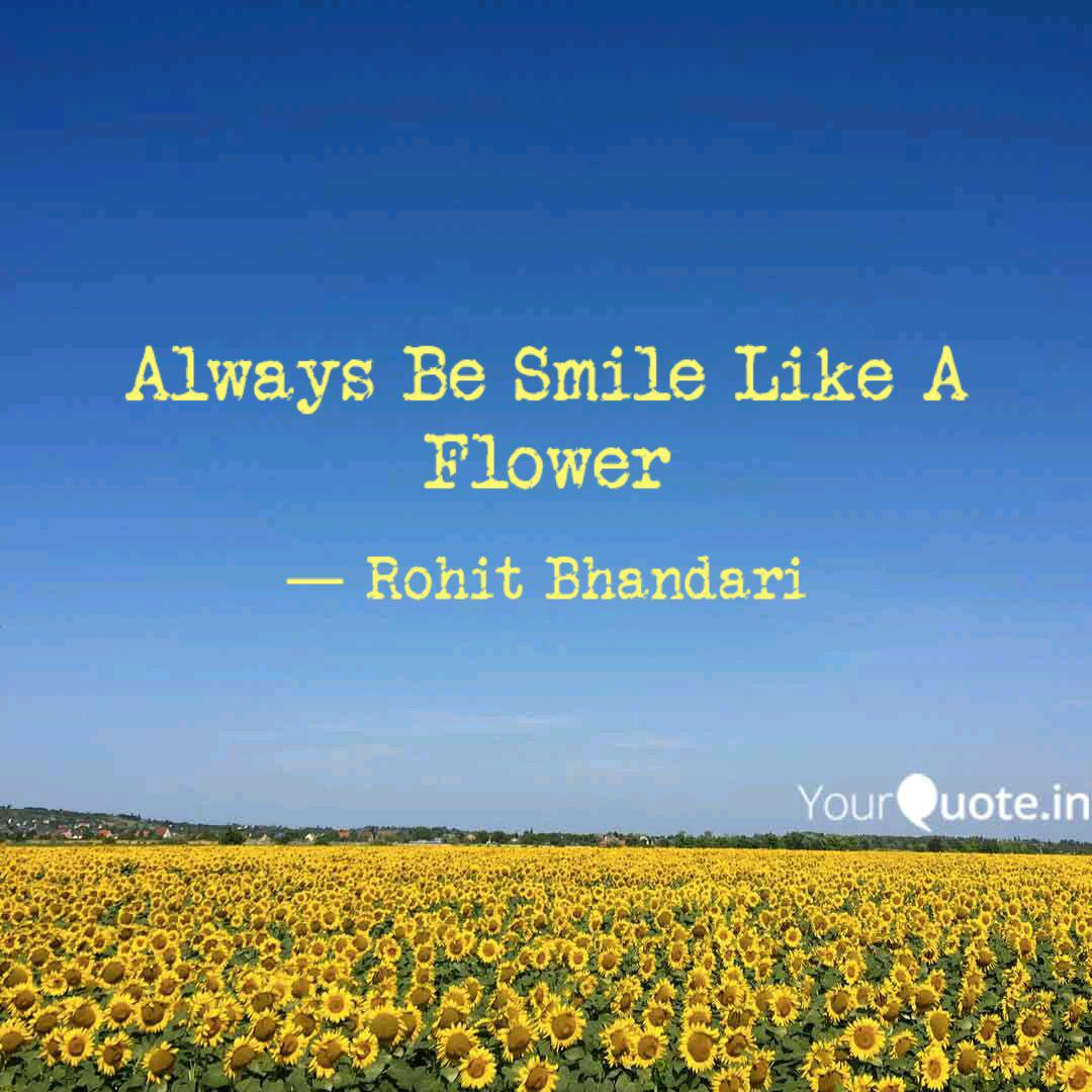 always be smile like a fl quotes writings by rohit bhandari