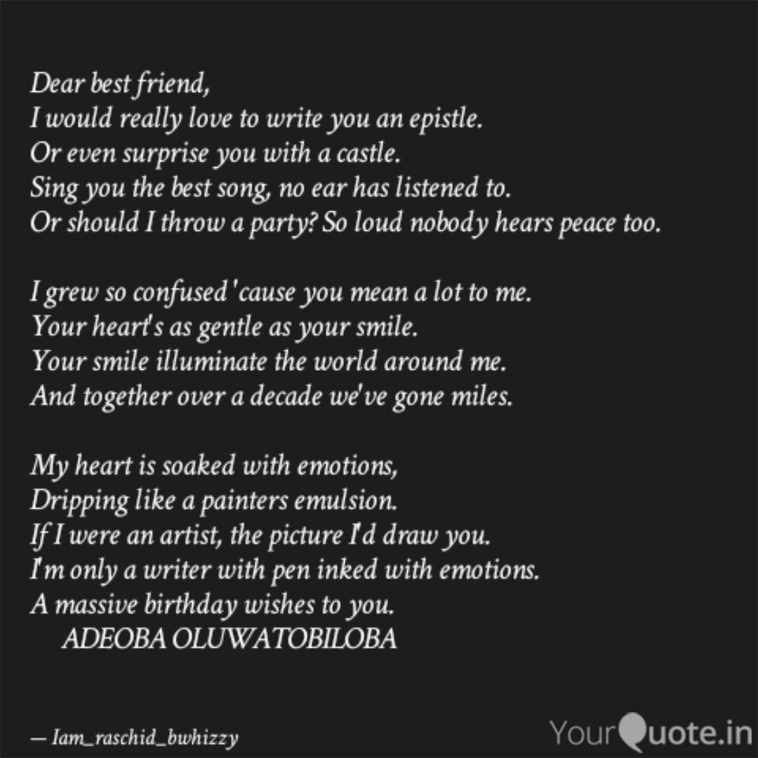 dear best friend i woul quotes writings by double peace tv