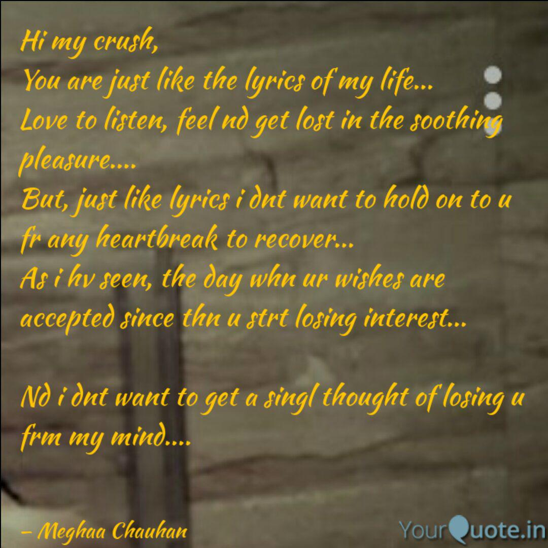 Hi my crush, You are just... | Quotes & Writings by Meghaa ...