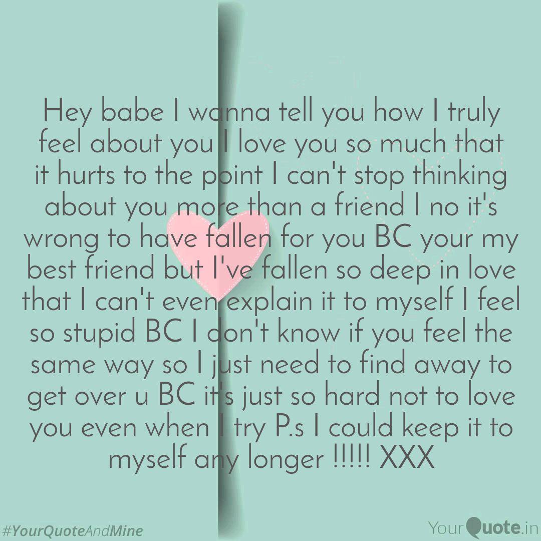 Love i wanna you i you tell 175 Romantically