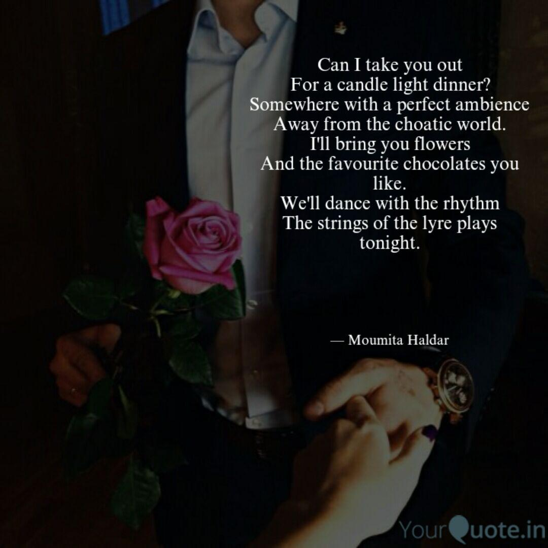 Romantic Dinner Date Quotes On Candle Light Dinner