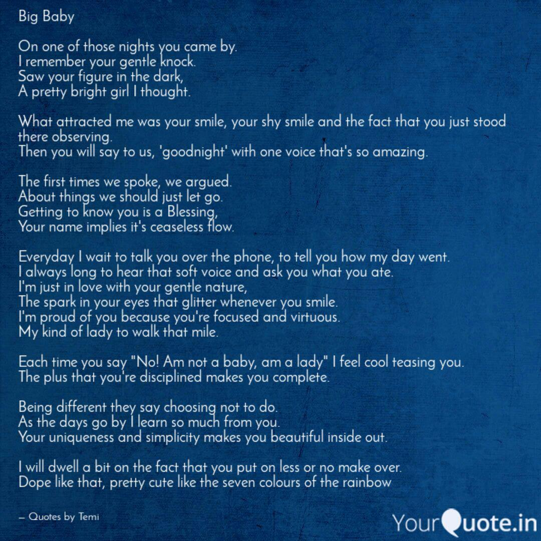Big Baby On one of those...   Quotes & Writings by ...