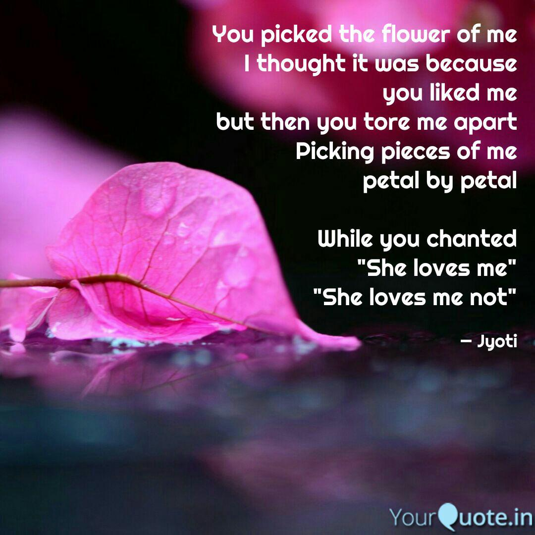 you picked the flower of quotes writings by jyoti tomar