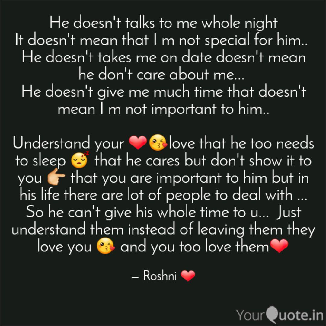 He doesn\'t talks to me wh... | Quotes & Writings by Roshni ...