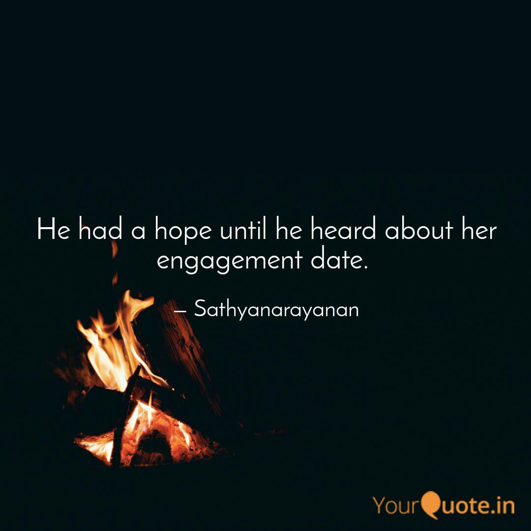 he had a hope until he he quotes writings by sathya