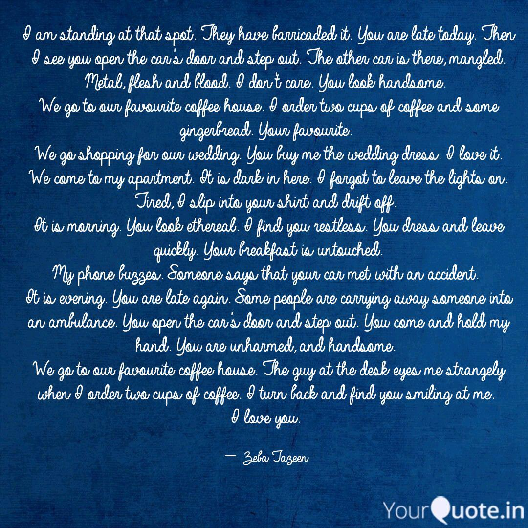 i am standing at that spo quotes writings by zeba tazeen