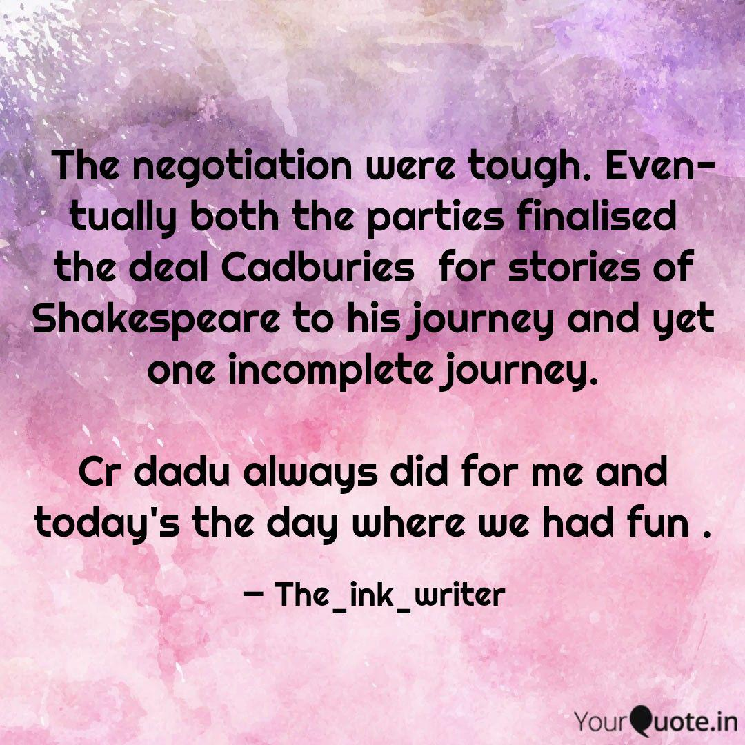 The Negotiation Were Toug Quotes Writings By Twisha