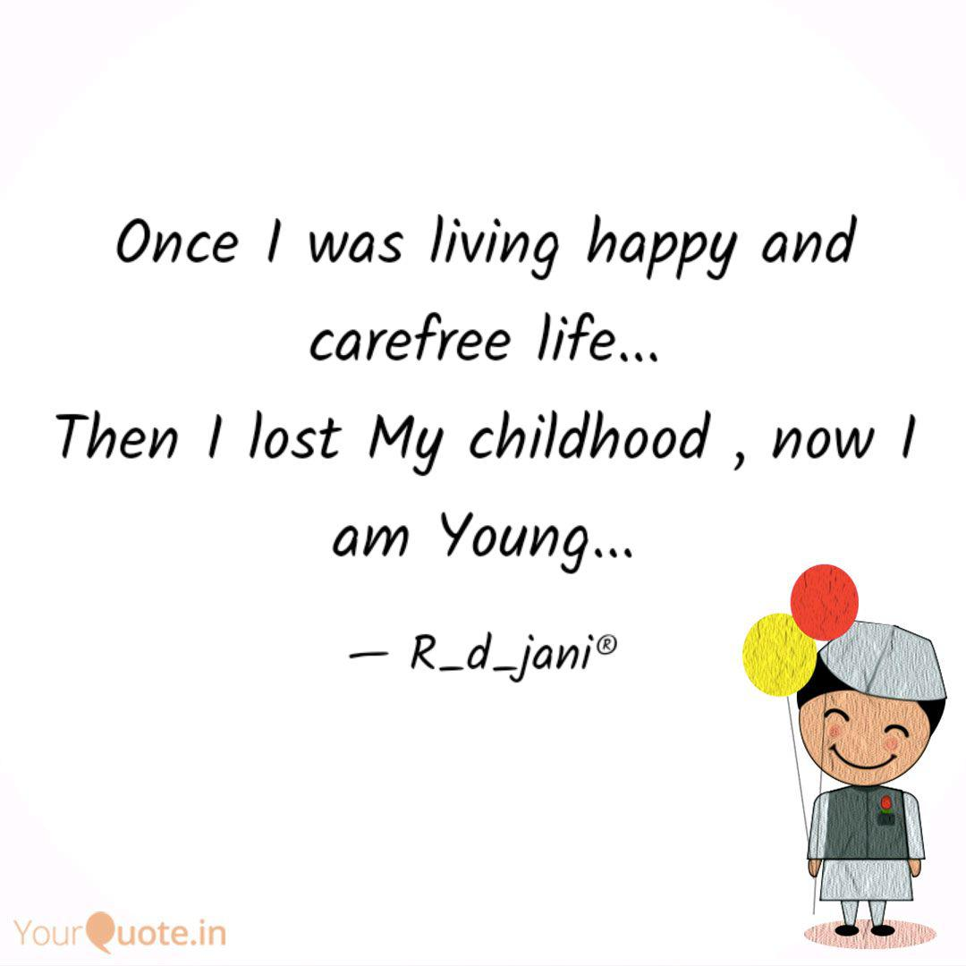 Once I was living happy a... | Quotes & Writings by Rishita ...