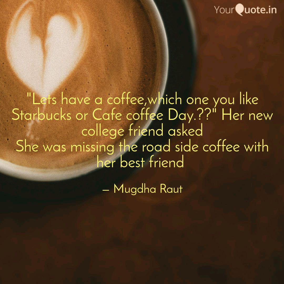 lets have a coffee which quotes writings by mugdha raut