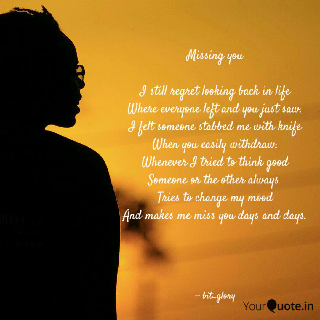 Missing you I still re... | Quotes & Writings by Priya Dutta | YourQuote