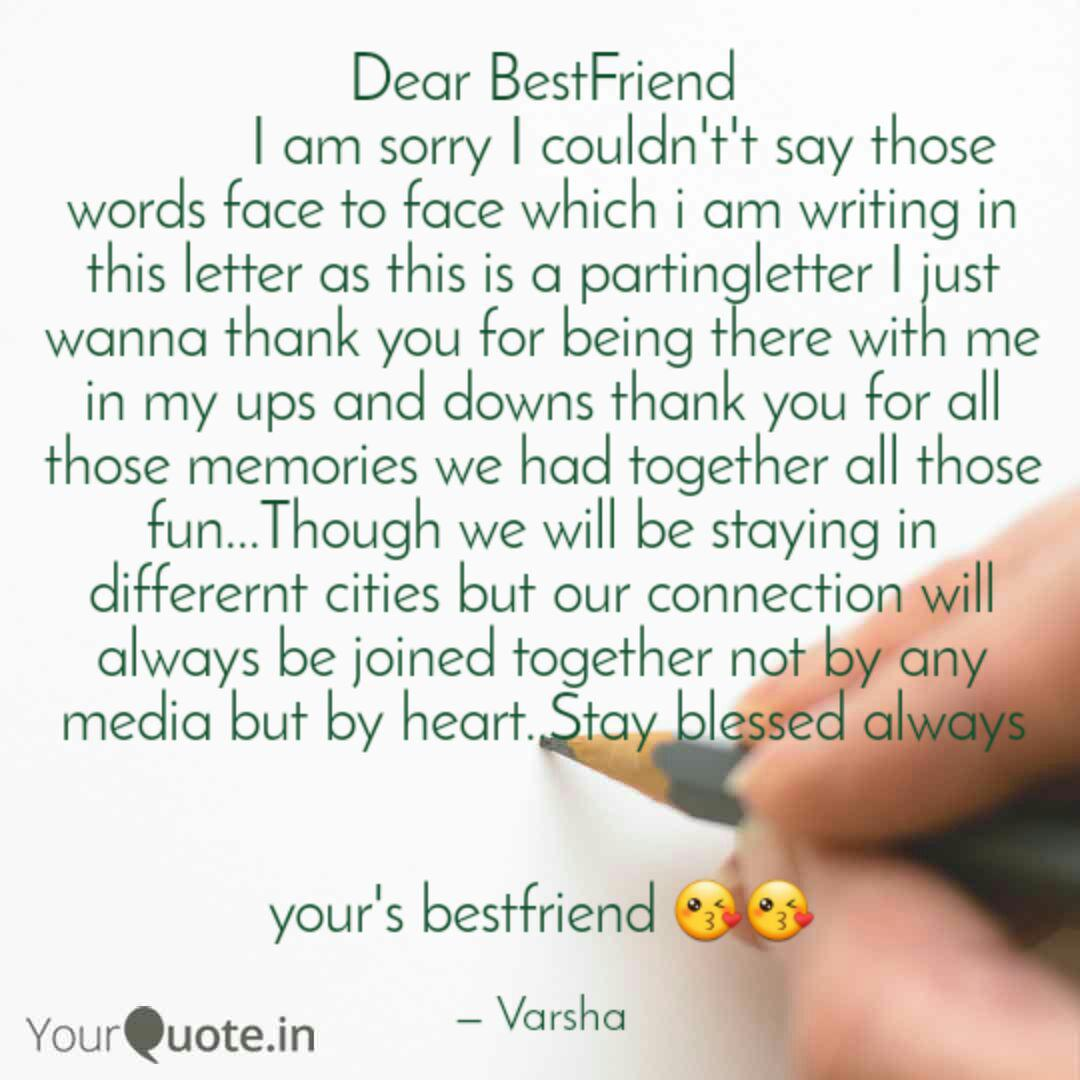 dear bestfriend quotes writings by varsha chakraborty