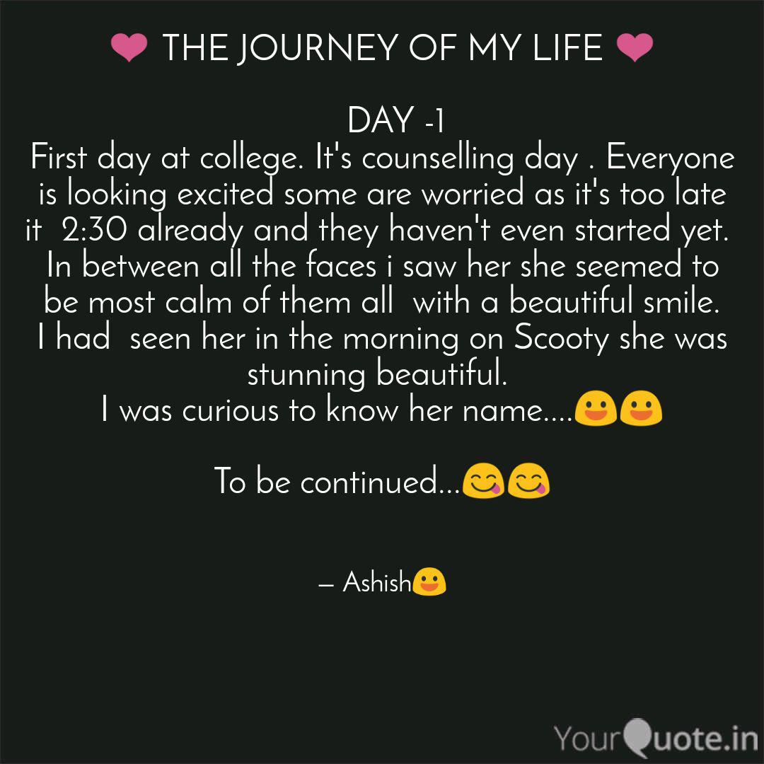 ❤️ THE JOURNEY OF MY LIFE  Quotes & Writings by Ashish Yadav