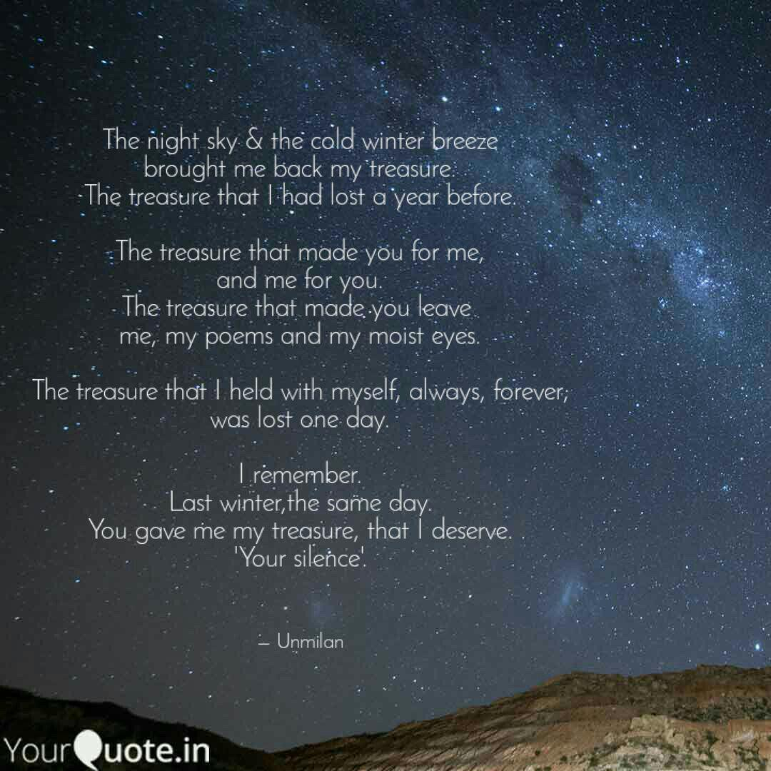 the night sky the cold quotes writings by unmilan kalita