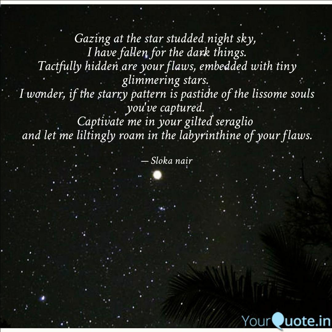gazing at the star studde quotes writings by sreelakshmi