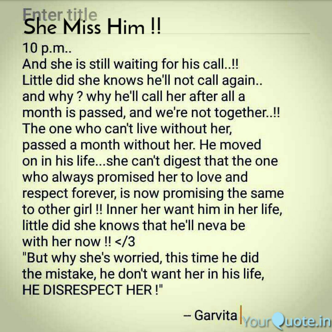 She Miss Him !! | Quotes & Writings by Annie Agarwal | YourQuote