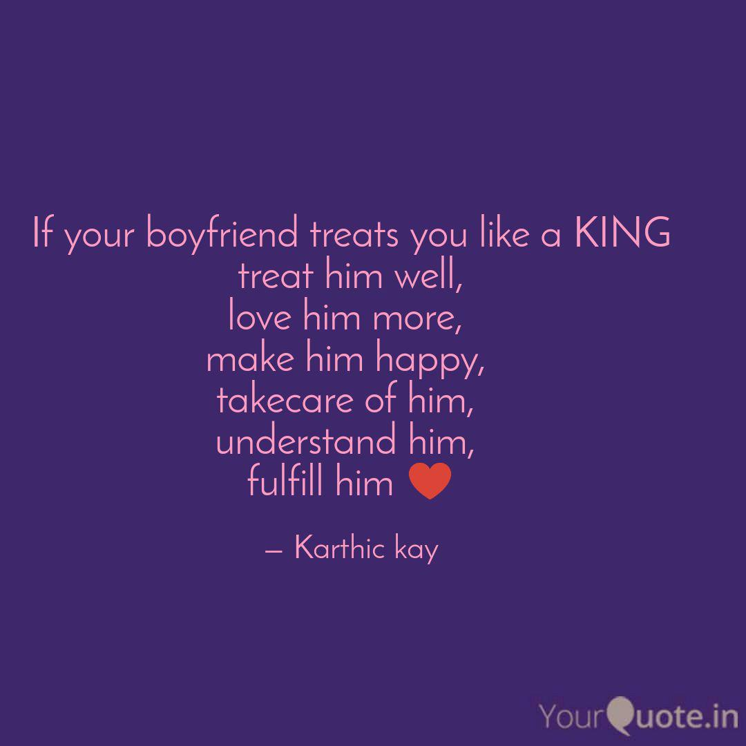 if your boyfriend treats quotes writings by karthic