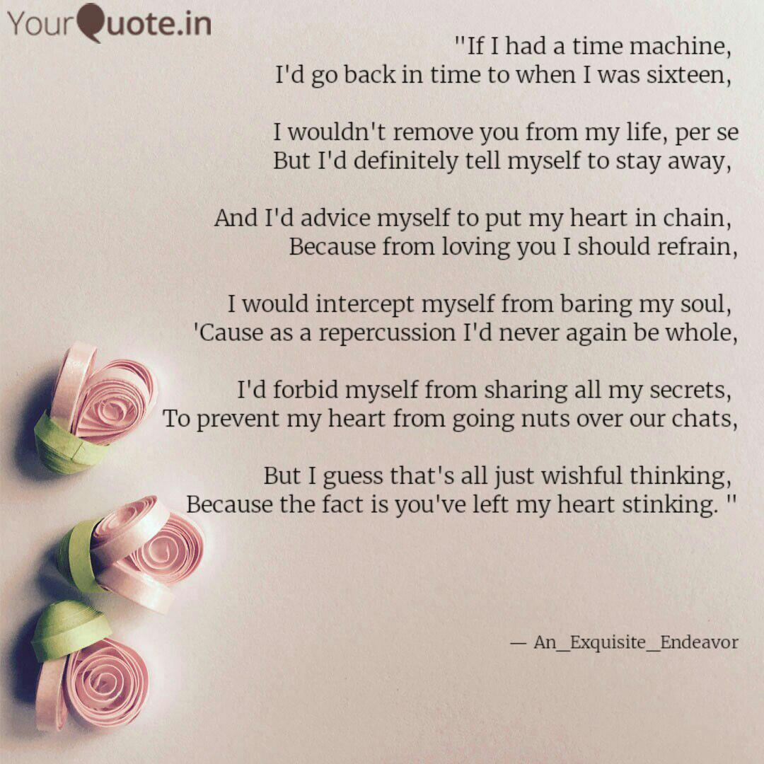 If I had a time machine,      Quotes & Writings by Mohini