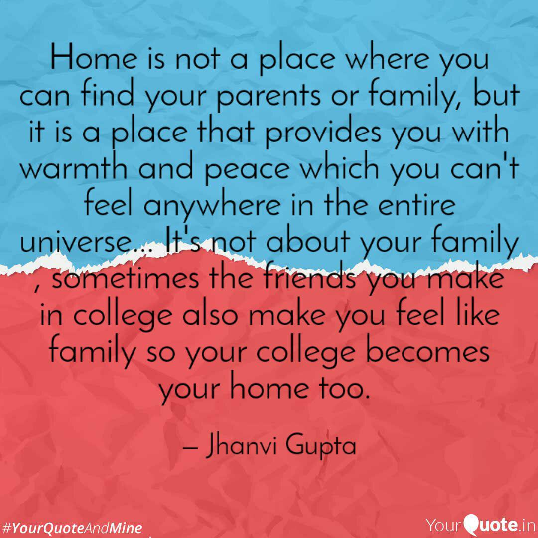 home is not a place where quotes writings by jhanvi gupta