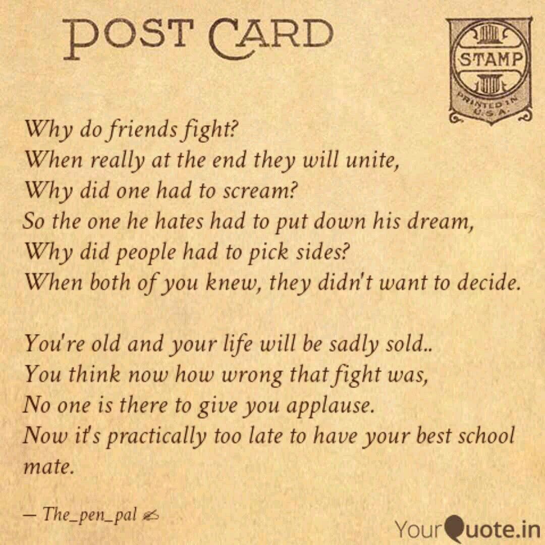 Why do friends fight? Whe... | Quotes & Writings by Anjana ...