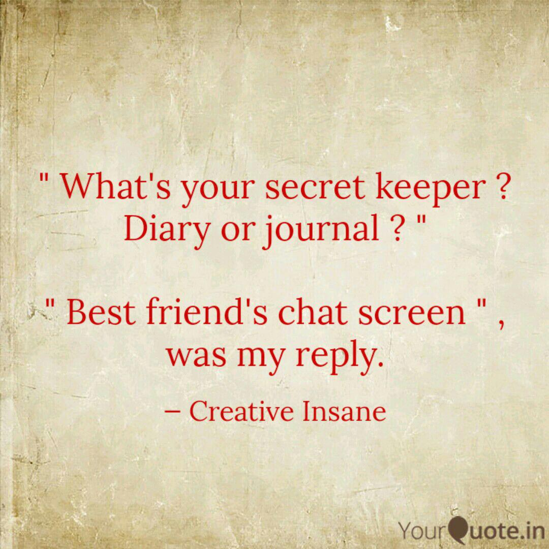 What's your secret keep...   Quotes & Writings by Shrestha Hira ...