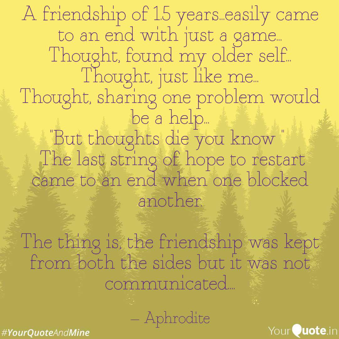 a friendship of years quotes writings by ausmita