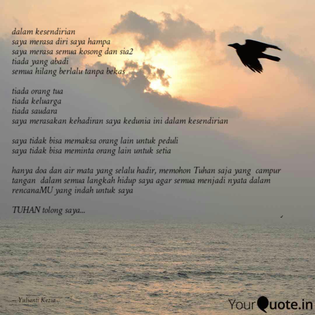dalam kesendirian saya m quotes writings by yulianti kezia
