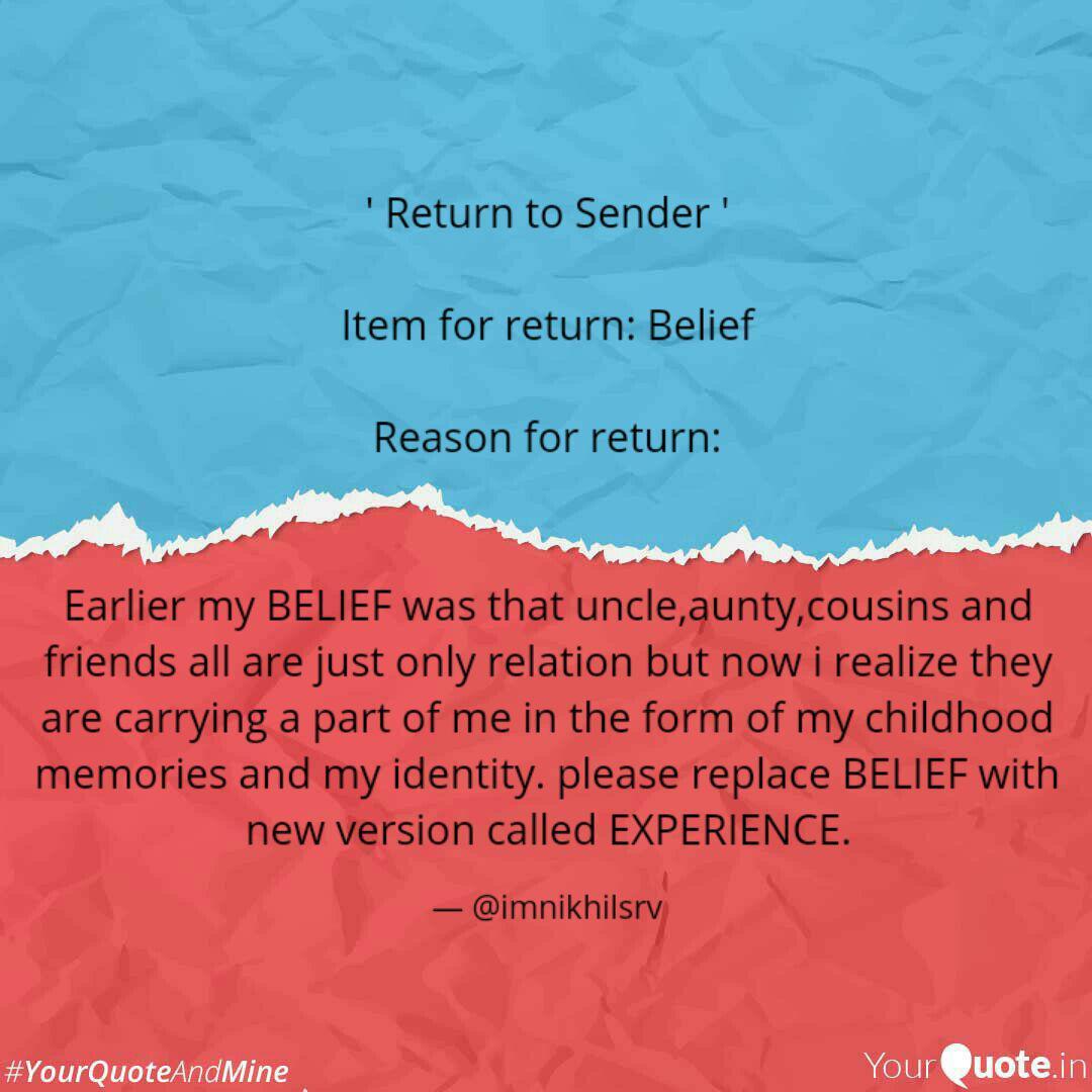 return to sender ite quotes writings by nikhil srivastav