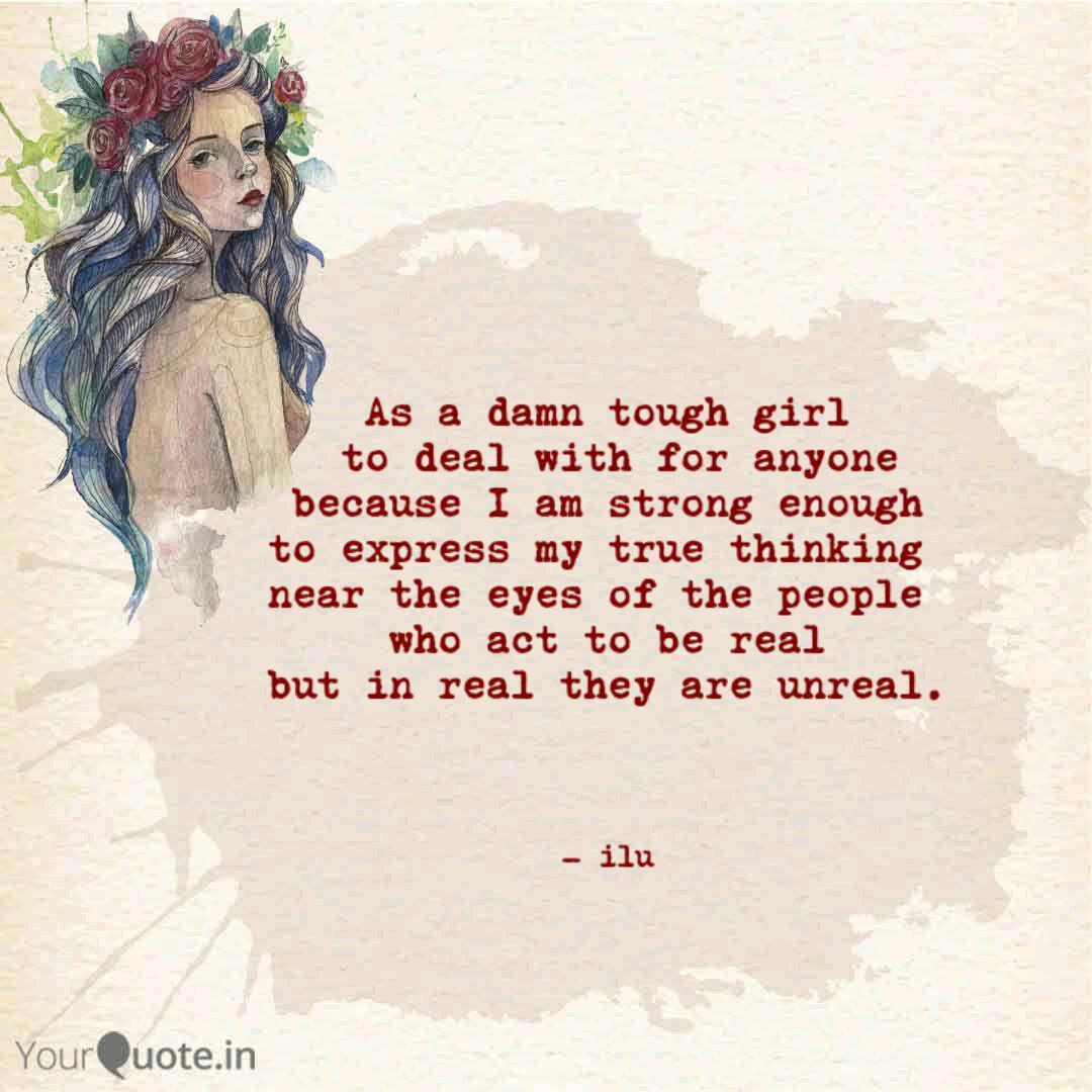 A girl tough being about quotes Tough Life