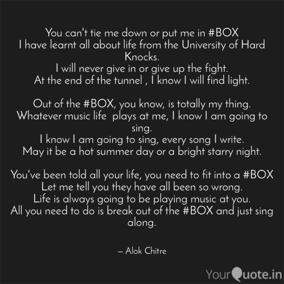 You can\'t tie me down or ...   Quotes & Writings by Alok ...