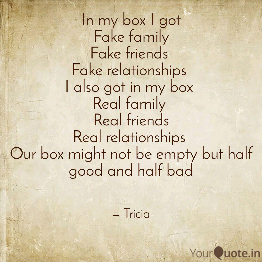 In my box I got Fake fami... | Quotes & Writings by Patricia ...