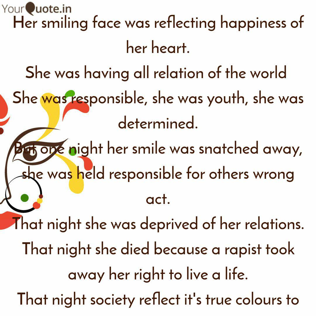 her smiling face was refl quotes writings by batul shakir
