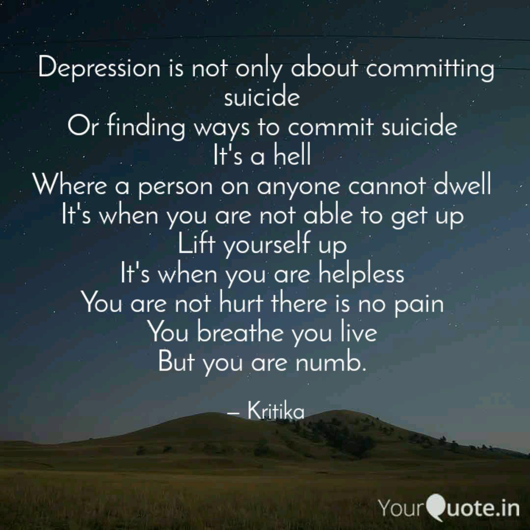 depression is not only ab quotes writings by kritika